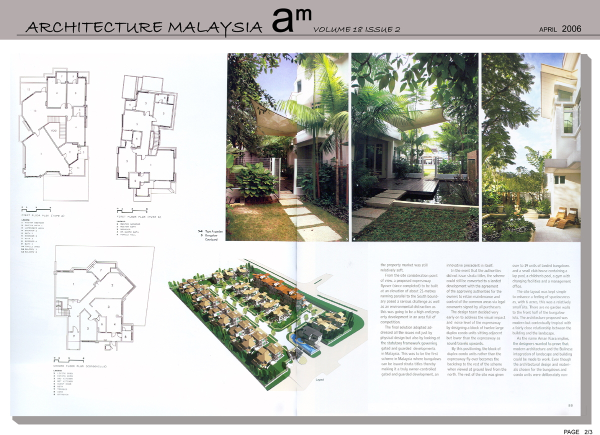 Press, Architecture Malaysia, April 2006, Aman Kiara 2