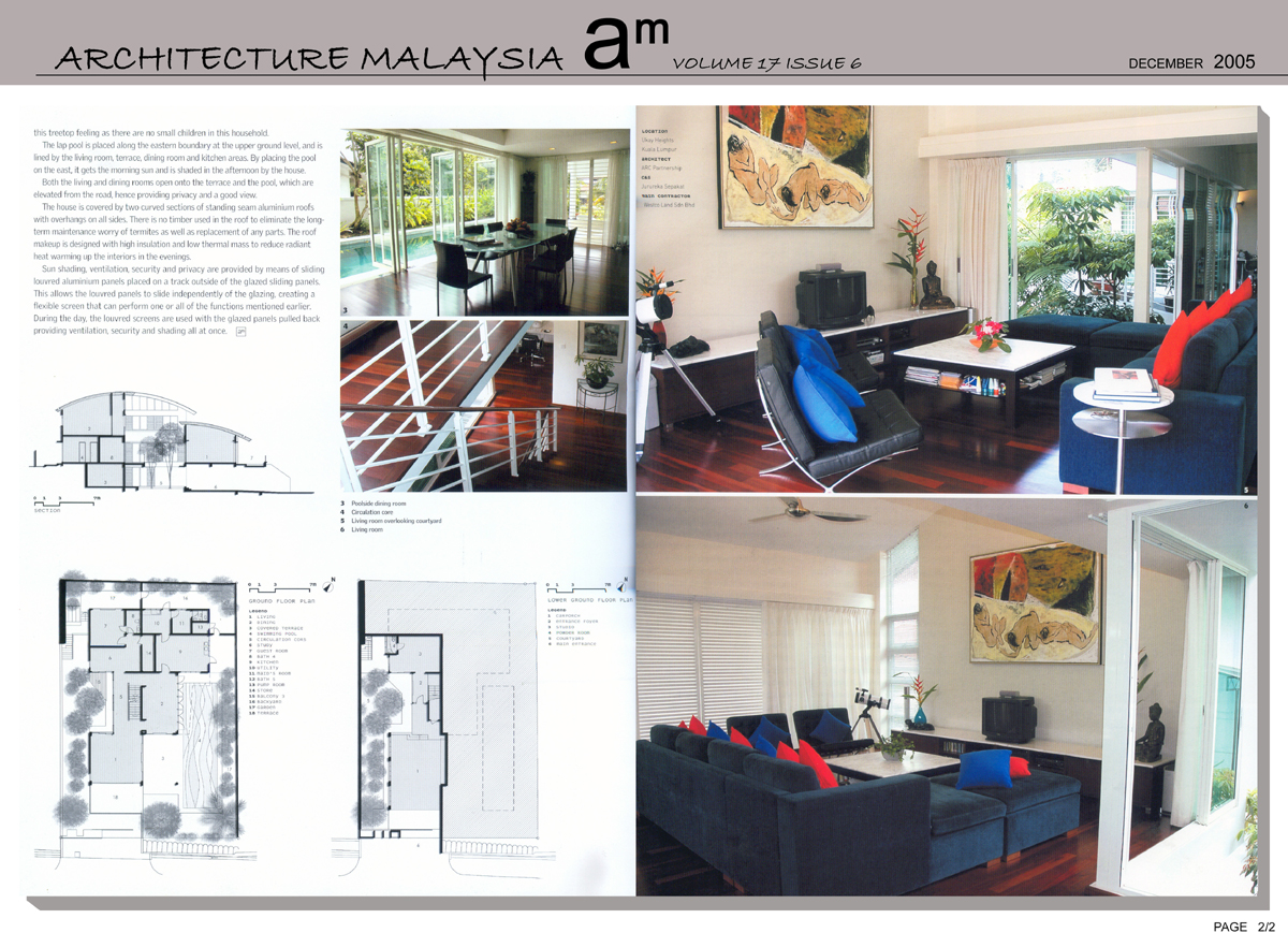 Press, Architecture Malaysia, December 2005, Ukay Height 2