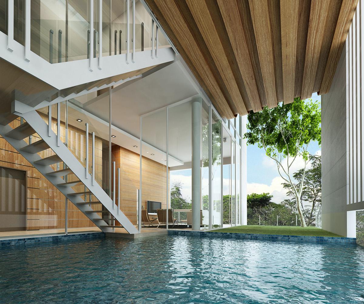 Interior pool view